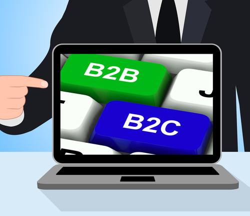 B2B_B2C na tela do notebook