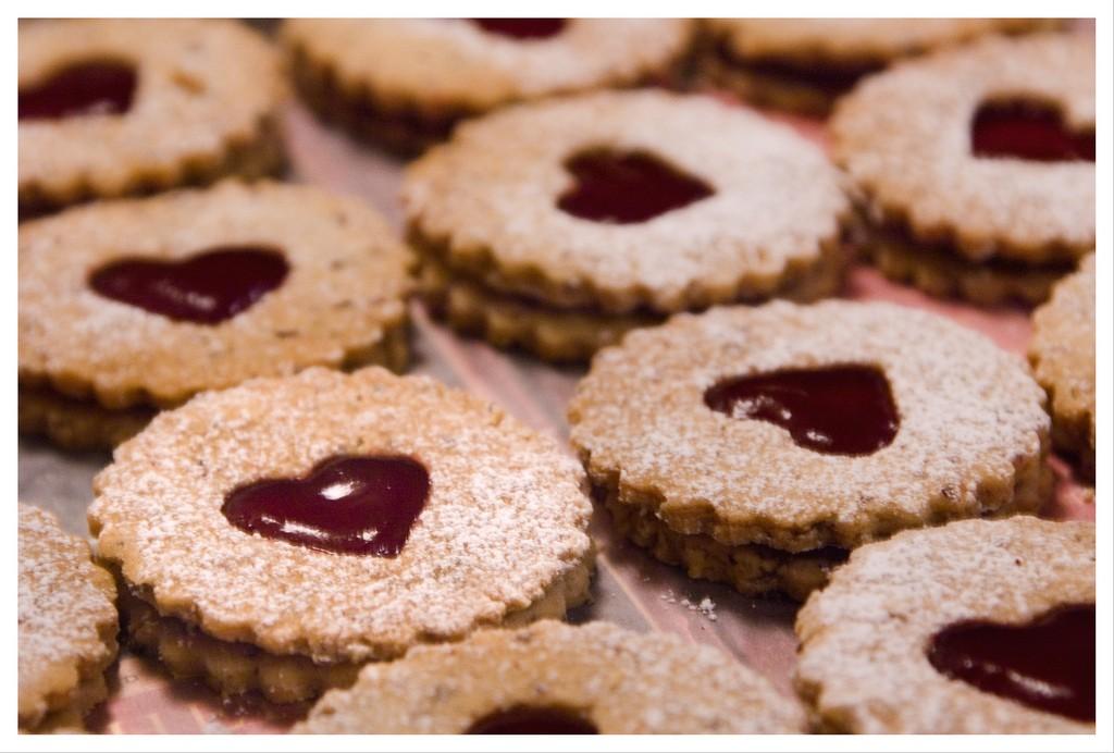 Biscoitos com coração