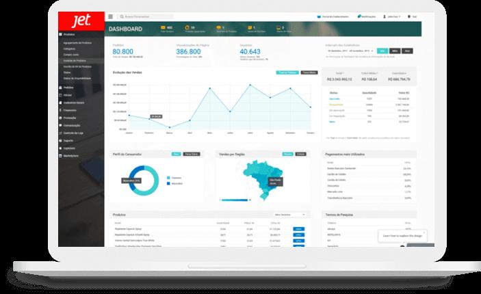 Sistema Administrativo com interface amígavel, navegação intuitiva e autonomia sobre os dados